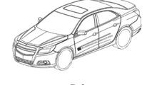 Alleged Chevrolet sedan patent design sketches 12.03.2010