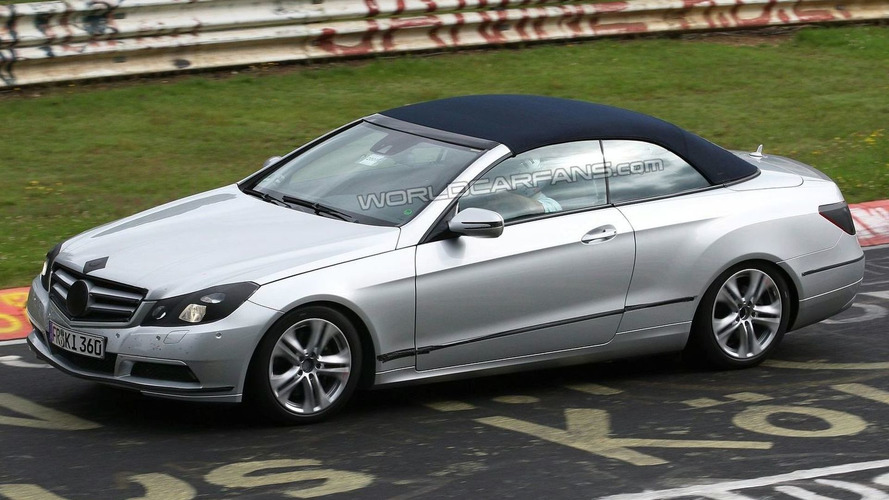 Mercedes E-Class Cabrio at Nurburgring once again with almost no camouflage
