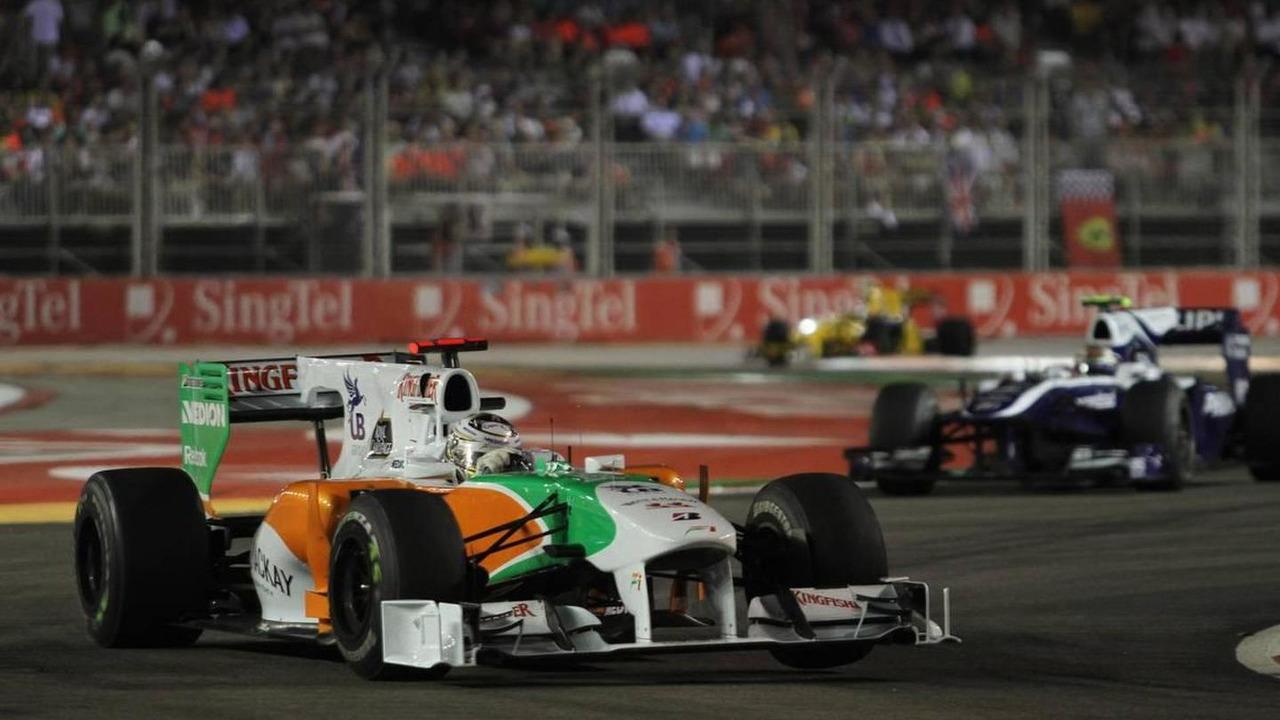 Adrian Sutil (GER), Force India F1 Team - Formula 1 World Championship, Rd 15, Singapore Grand Prix, 26.09.2010