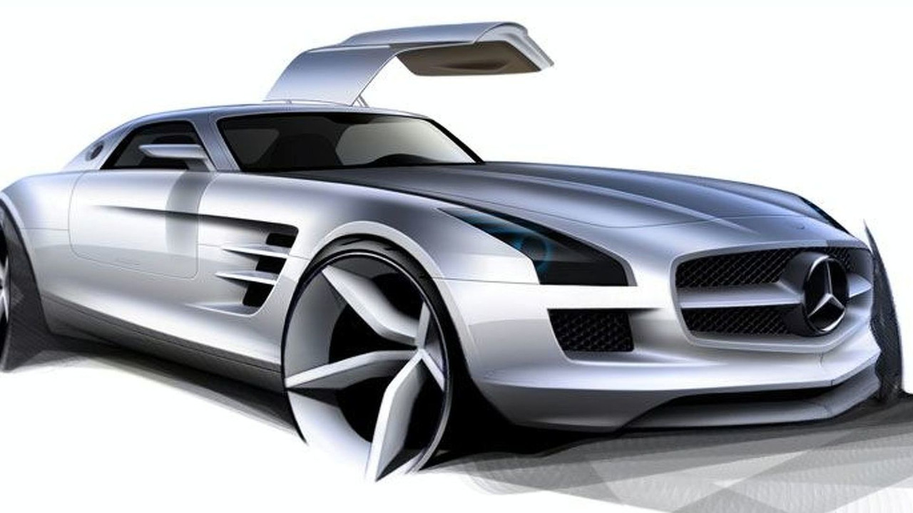 Mercedes SLS AMG Gullwing first images - low res