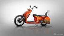 Virtual Vespa motorcycle