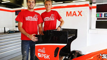 Jules Bianchi and Max Chilton 27.06.2013 British Grand Prix