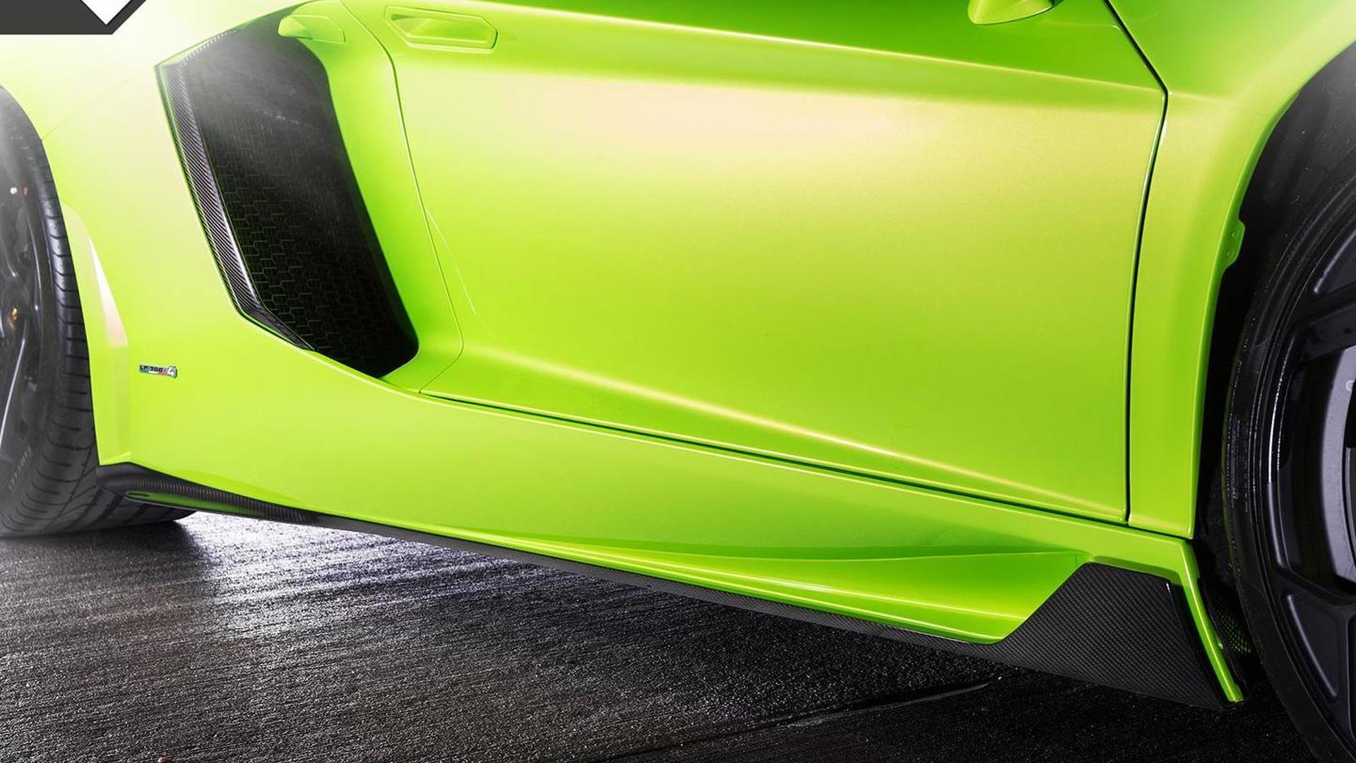 Боковые юбки Lamborghini Aventador-V Roadster The Hulk от Vorsteiner