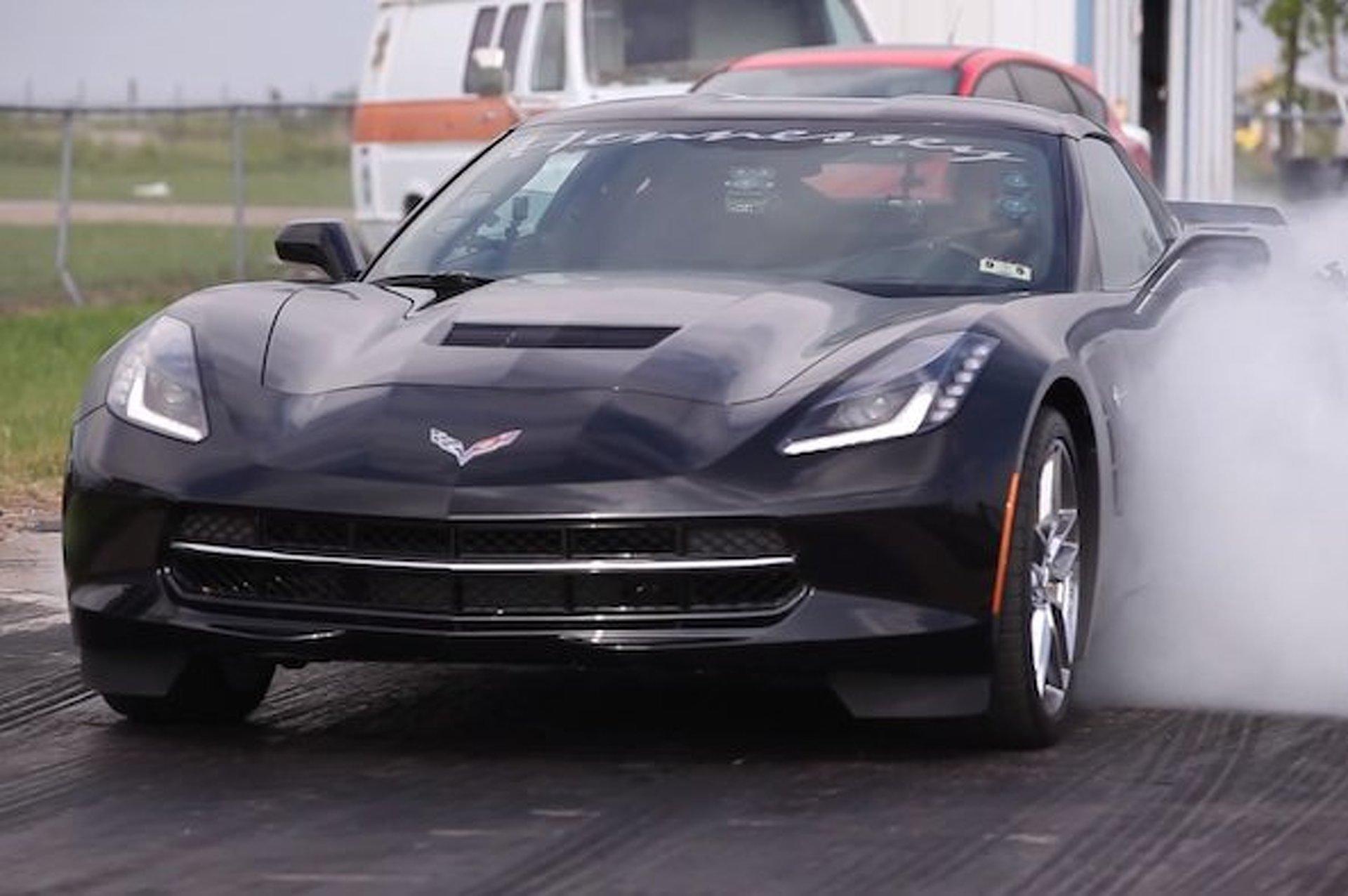 Stock Corvette Runs 1/4 Mile: 12.23 Seconds @ 114.88 MPH [video]