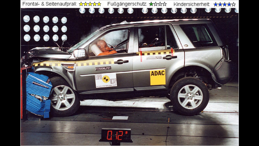 Freelander 2 und Grand Vitara im EuroNCAP-Crashtest