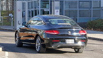 2018 Mercedes C-Class Coupe facelift spy photo