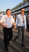 Zak Brown, McLaren Executive Director with Donald Mackenzie, CVC Capital Partners Managing Partner, Co Head of Global Investments