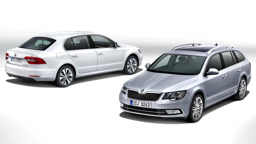 2013 Skoda Superb facelift revealed