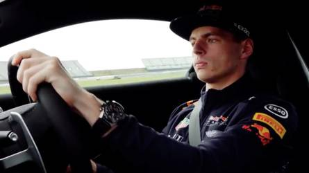 Max Verstappen meets the new Vantage