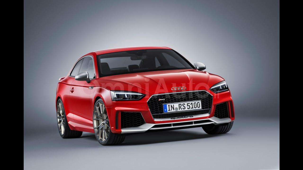 Nuova Audi RS 5 Coupé, il rendering