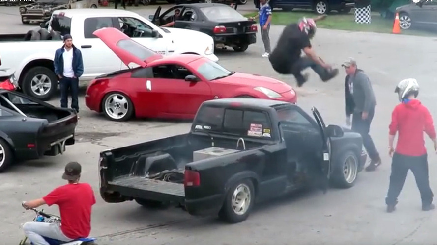 drift truck fire video shannonville