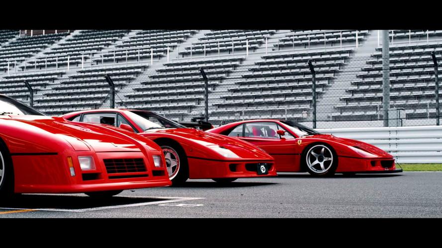 Watch These Gentlemen Honour The Ferrari 288 GTO Evo And F40 LM
