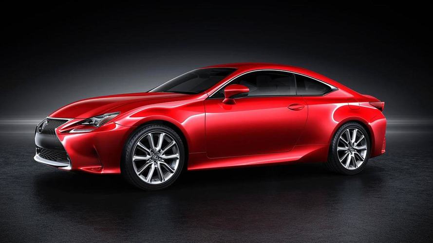 2014 Lexus RC shown with a four-layer red exterior paint