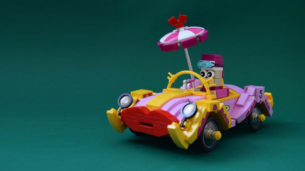Wacky Races in Lego form