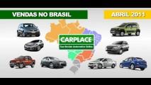 Veja a lista dos carros mais vendidos no Brasil em abril de 2011
