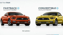 2015 Ford Mustang configurator