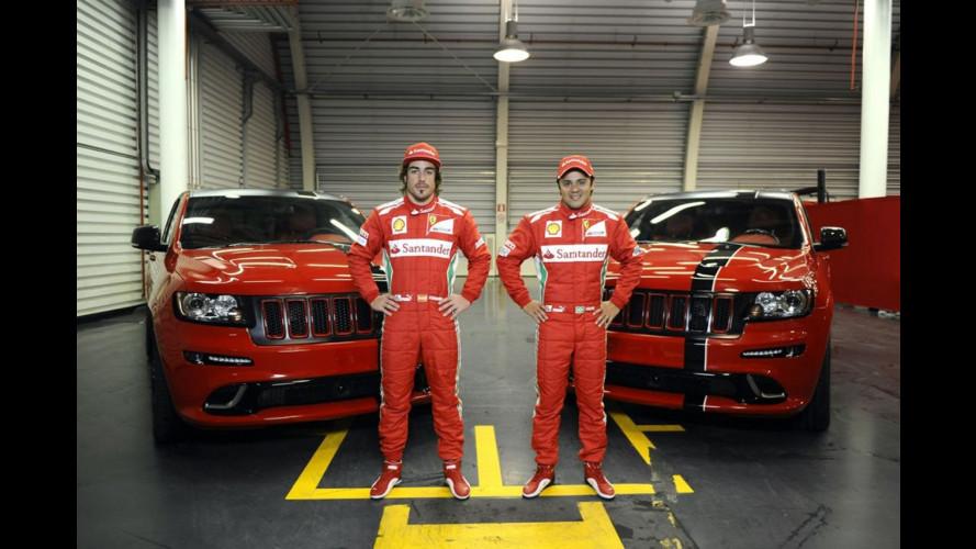 Arrivano le Jeep-Ferrari per Alonso e Massa