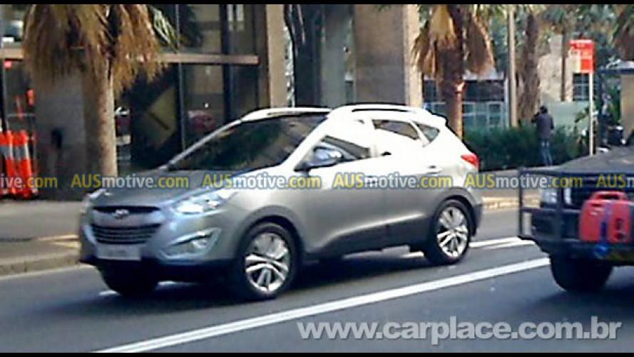 Novo Hyundai ix35 é flagrado sem disfarces na Austrália - Modelo é a nova geração do Tucson