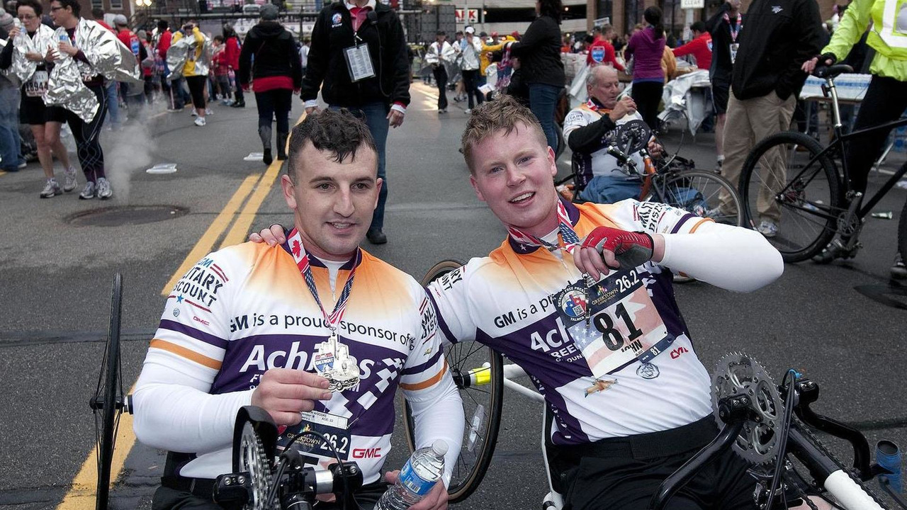 Joseph Woodke and John Curtin, members of the Achilles Freedom Team of Wounded Veterans - 09.12.2011