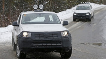 2017 VW Amarok facelift spy photo