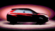 Mitsubishi kompakt crossover teaser (ışıklandırılmış)
