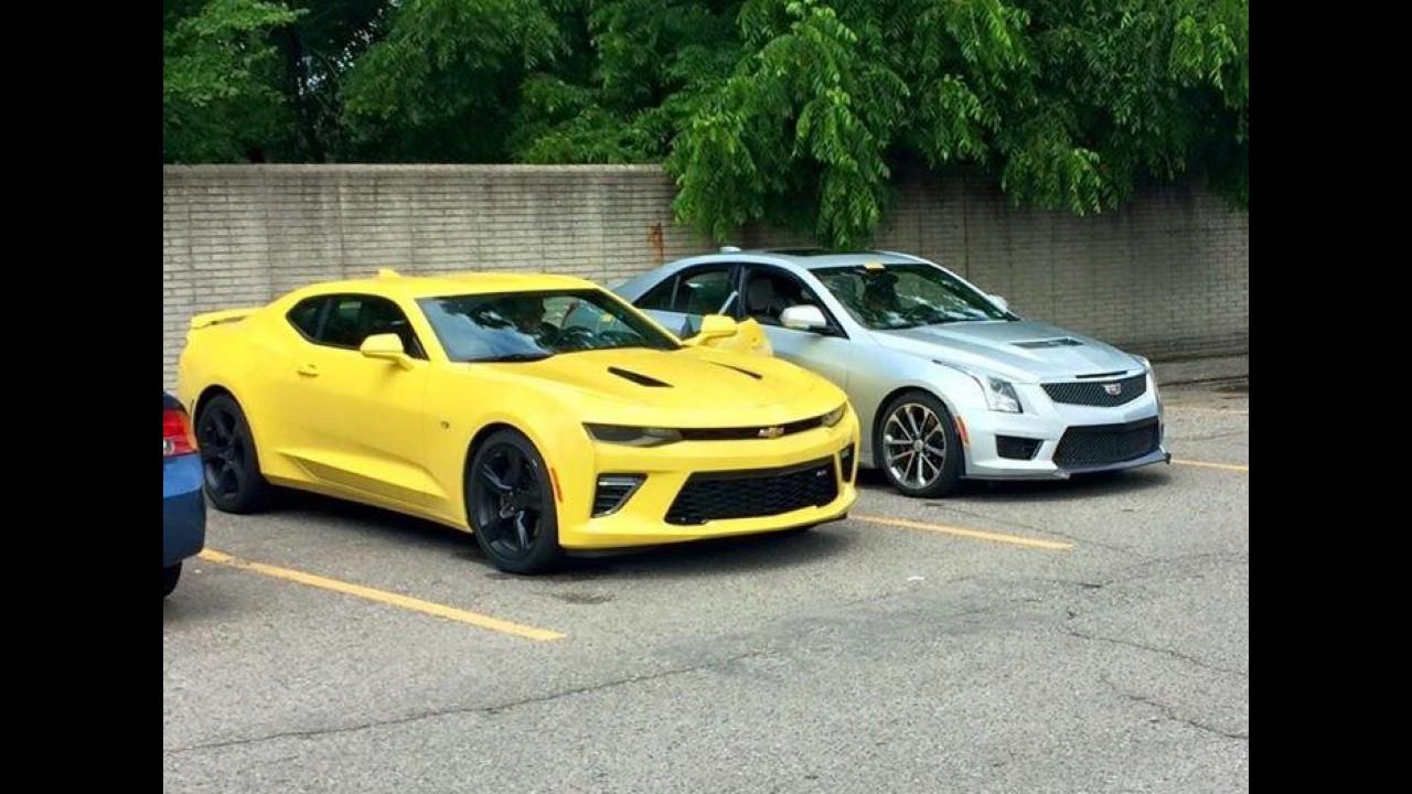 Flagra! Novo Camaro SS 2016 é visto antes do início das vendas nos EUA