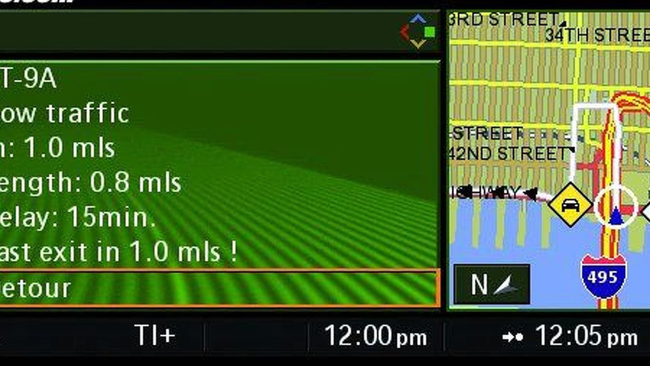 BMW Real Time Traffic Information Nav System