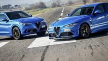 Alfa Romeo Giulia vs Alfa Romeo Stelvio drag yarışı