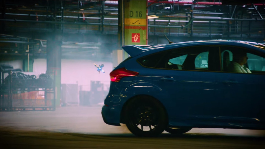 Dronekhana uses drifting Focus RS as obstacle course
