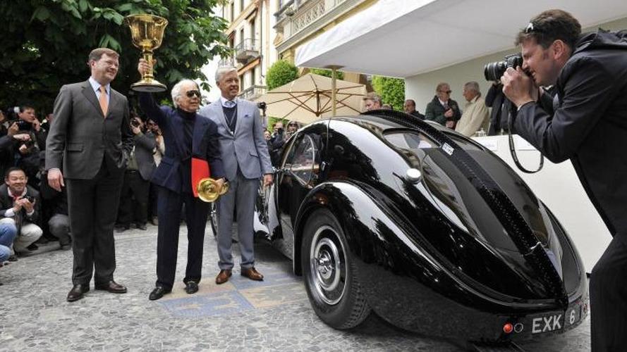 1938 Bugatti 57SC Atlantic owned by Ralph Lauren wins at Concorso d'Eleganza Villa d'Este