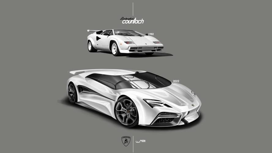 Lamborghini Countach render gives the supercar a virtual reboot