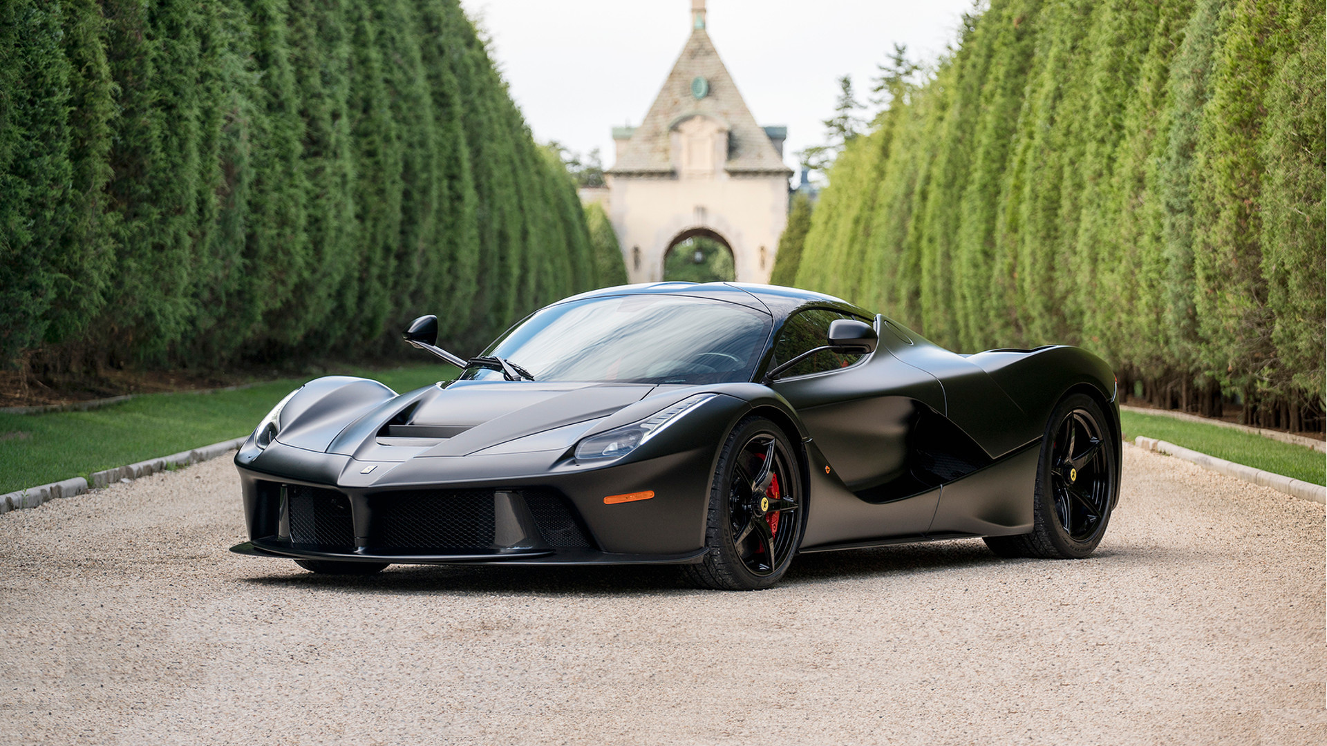 Matte black LaFerrari 'horse from ' sells for $4.7M at auction