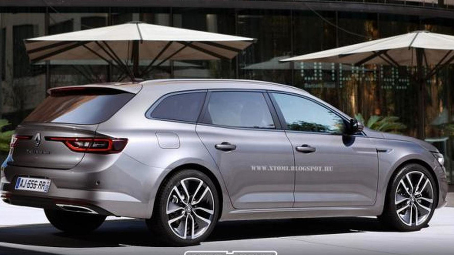 Renault TALISMAN wagon render shows its practical side