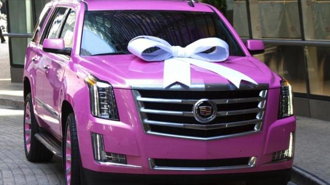 Pink 2015 Cadillac Escalade