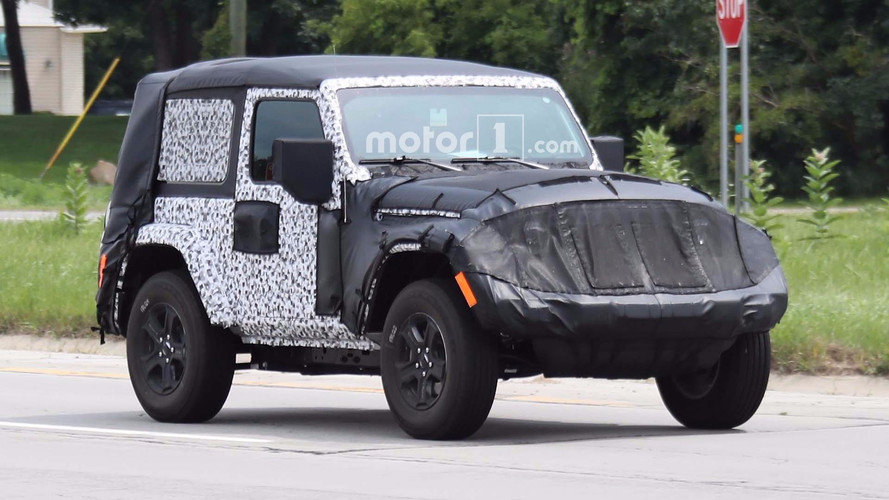 2018 Jeep Wrangler Two-Door Caught On-Road Testing