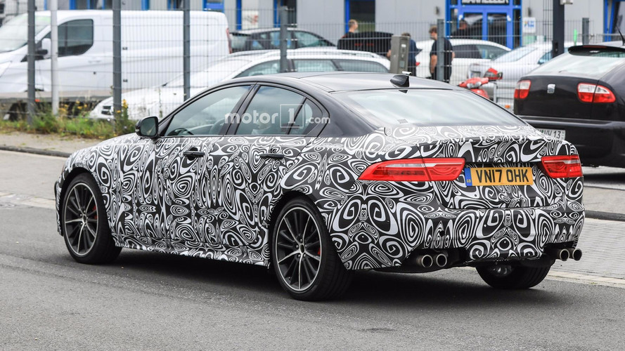 Jaguar XE SVR Spotted Flaunting Quad Exhaust Tips