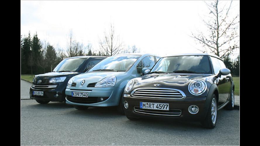 Mini-Würfel, Mini-Kombi, Mini-Van: Raum-Kleinwagen im Duell