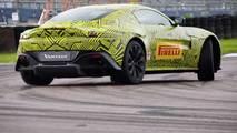 Aston Martin Vantage Sideways