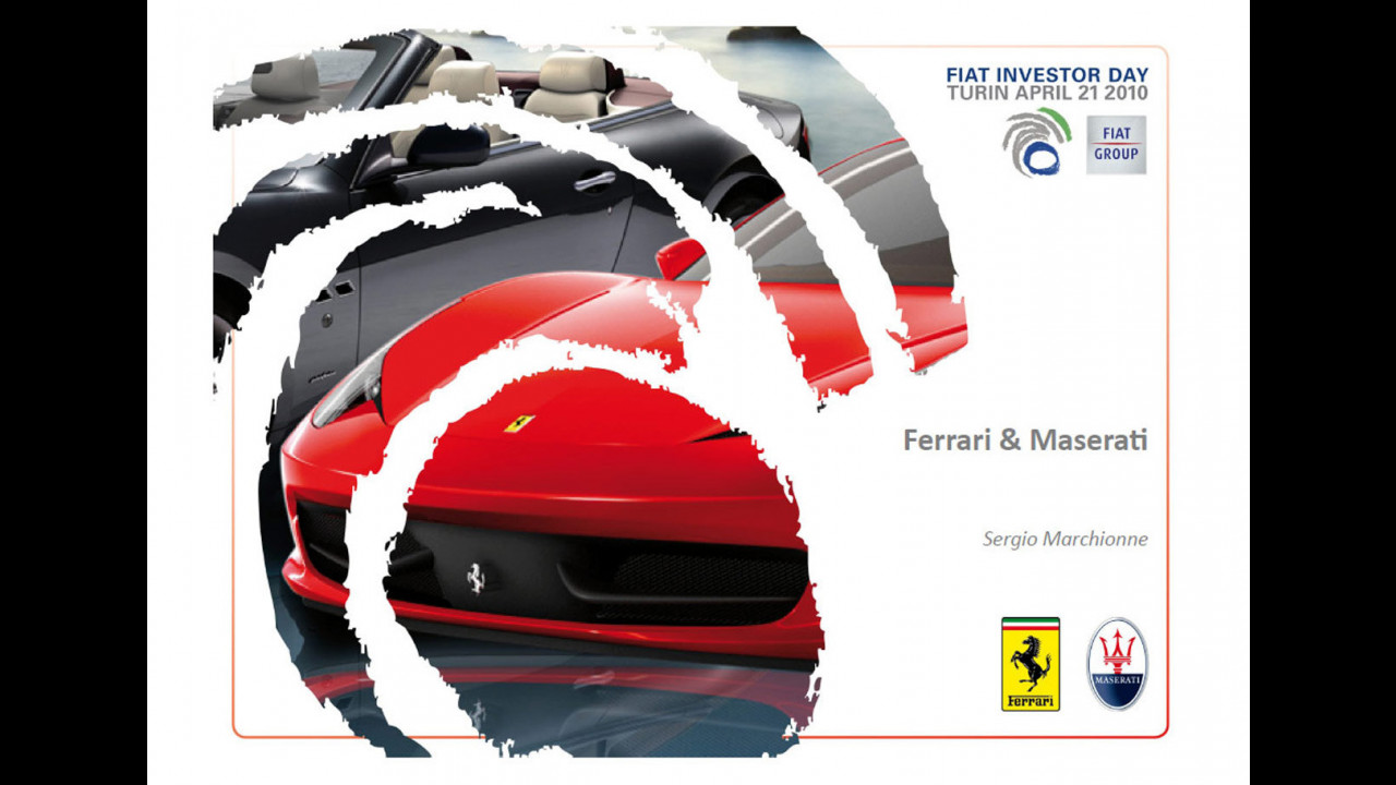 Piano Strategico 2010-2014: Ferrari e Maserati