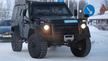 Mercedes G Class Light Armored Patrol Vehicle spy photo