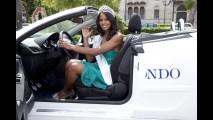 Miss Italia nel Mondo 2011 Silvia Novais sulla Peugeot 207 CC