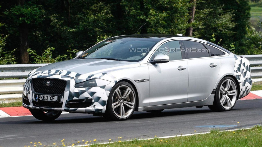 Jaguar XJ facelift spied on the Nurburgring