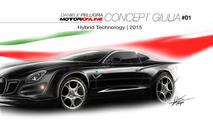 2015 Alfa Romeo midsize sedan / Giulia render