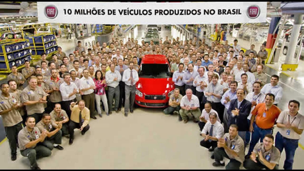 Fiat comemora a marca de 10 milhões de carros produzidos no Brasil
