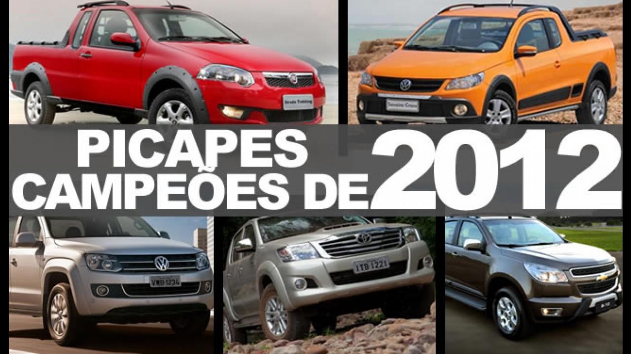 """Especial """"Campeões de 2012"""": Picapes mais vendidas no Brasil"""