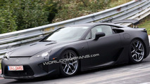 Lexus LF-A Spied Undisguised in Black at Nurburgring