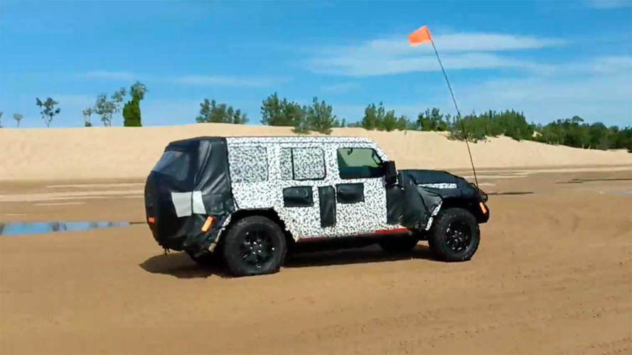 2018 Jeep Wrangler Spied Testing Off-Road For First Time