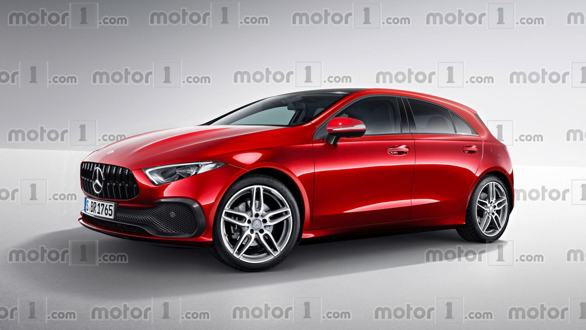 new mercedes a class render transforms sedan concept into hatch. Black Bedroom Furniture Sets. Home Design Ideas