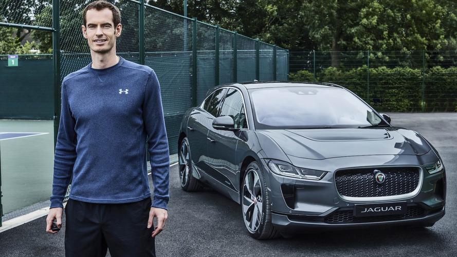 El tenista Andy Murray ya conduce su flamante Jaguar I-PACE