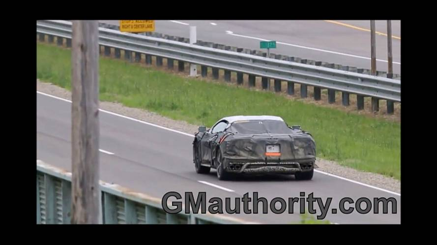 Mid-Engined Corvette Spied Chirping Its Tires In Acceleration Tests